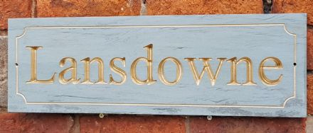 Honed Grey Sandstone House Sign (500mm x 150mm)